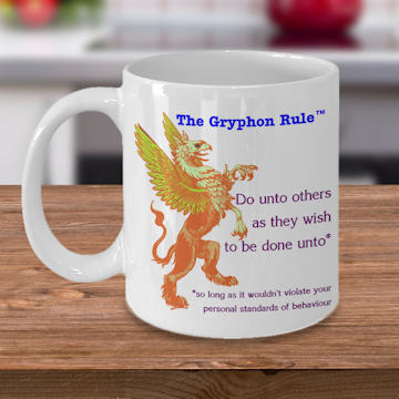 The Gryphon Rule on a coffee mug