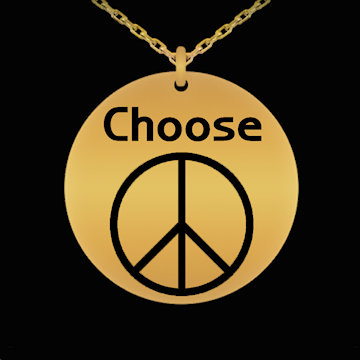 Choose Peace engraved necklace