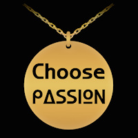 Choose Passion engraved necklace