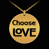 Choose Love engraved necklace