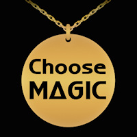 Choose Magic engraved necklace