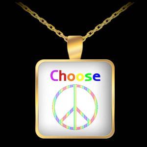Choose Peace necklace
