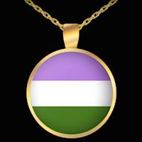 Gender Queer Pride necklace