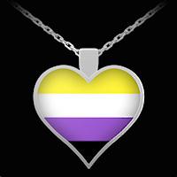 Non-Binary Pride necklace