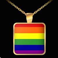 Rainbow Pride Flag necklace