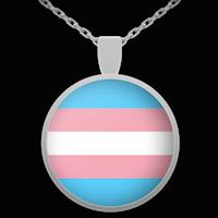 Trans Pride Flag necklace