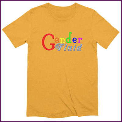 t-shirt with Gender Fluid printed on the front